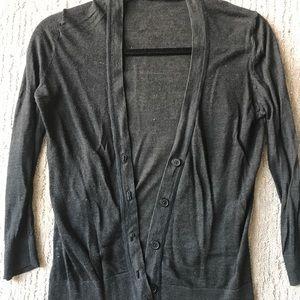 LOFT Sheer 3/4 Sleeve Cardigan